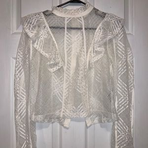 Delicate Lace Overshirt/blouse